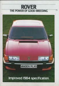 DSC_0003 Rover 2000 2300 2400SD 2600 3500 VDP Vitesse VDP EFi Brochure 7-1984