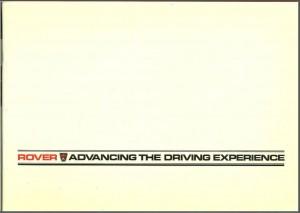 Rover 2000 2300 2300S 3500SE VDP Brochure Cover UK 1983