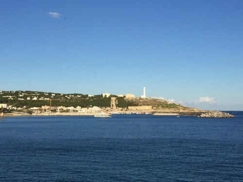 Santa Maria di Leuca in the distance along with its lighthouse
