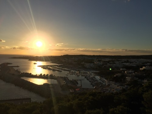 The sunset while looking down on Santa Maria di Leuca