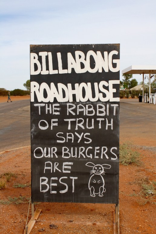 Billabong Roadhouse Sign