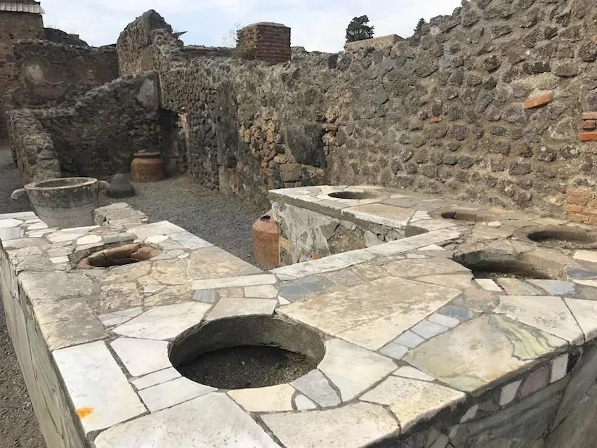 Pompeii cafe