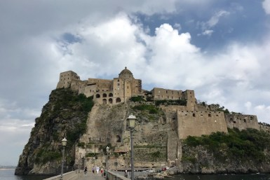 Castello Aragonese from the pedestrian bridge