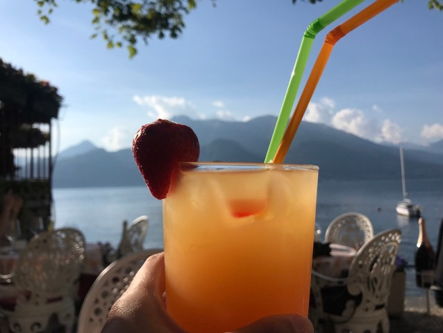 Cocktails in Lake Como. A must-do when spending four days in Varenna.