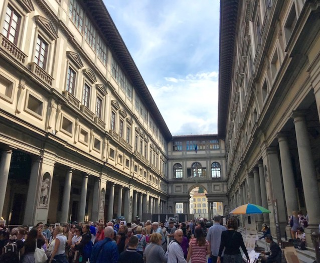 The crowds at the Uffizi Museum can be a bit of a turn off. I don't recommend trying to visit the inside of the museum if you only have 24 hours in Florence.