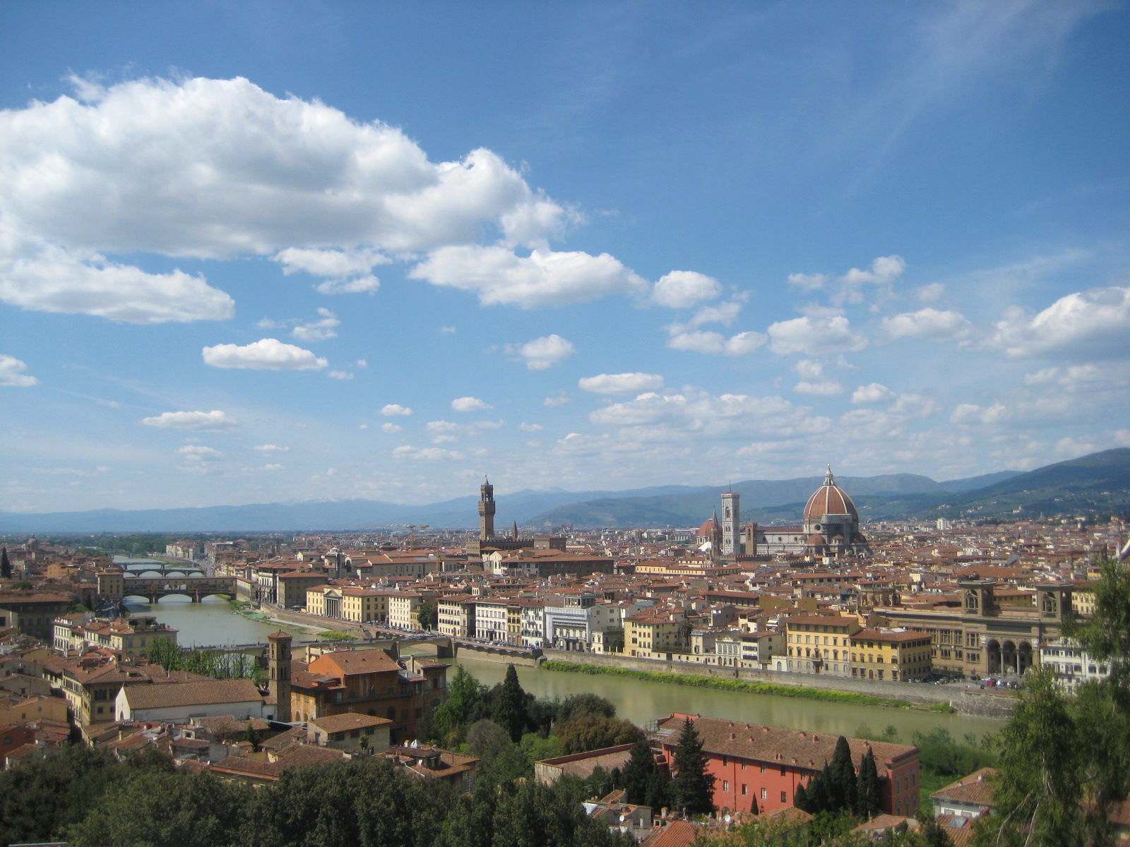 The beautiful skyline that is possible to see with only 24 hours in Florence