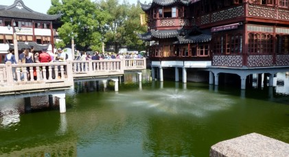 the crooked bridge in YuYuan Gardens Shanghai