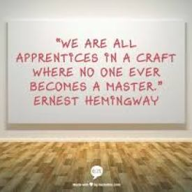 ernest hemingway quote to inspire people who want to become a copywriter
