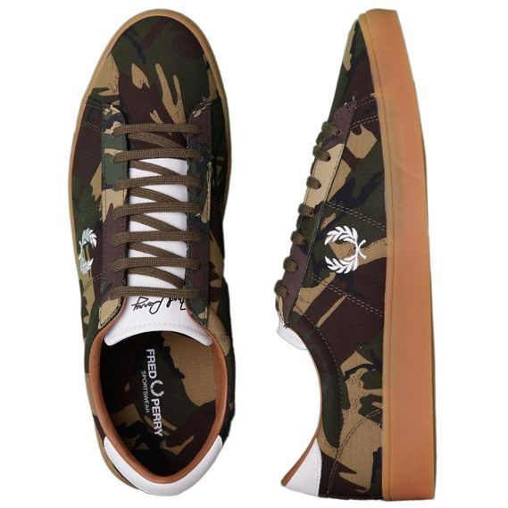 Fred-Perry-Spencer-Camo-Canvas-British-Olive-2
