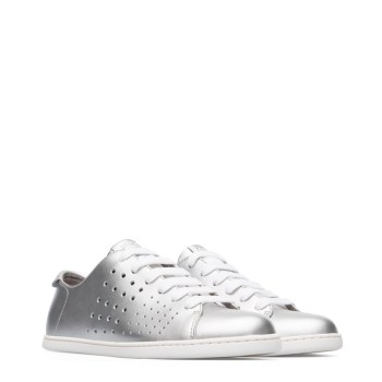 1ce40c475bd9f Camper Twins Perforated Sneaker Silver