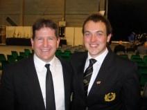 Bryan and Principal Cornet of B&R Steve Wilkinson