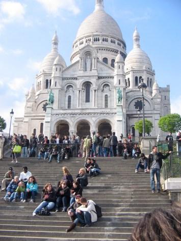 Sacre Coeur in Paris (Grandma with Hannah and Kate in the lower left corner)