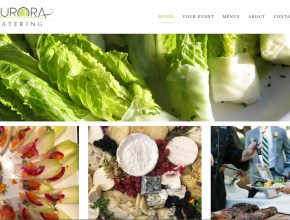 auroracatering castro valley website design