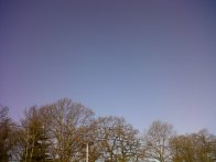 And blue sky in March