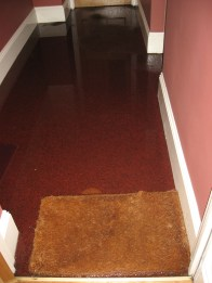 That's 2 inches of water in the hall.....it's dry now, thankfully