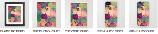 Some of the Society6 production options