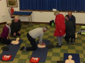 CPR training 3