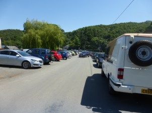Car parking at Rowen car boot sale