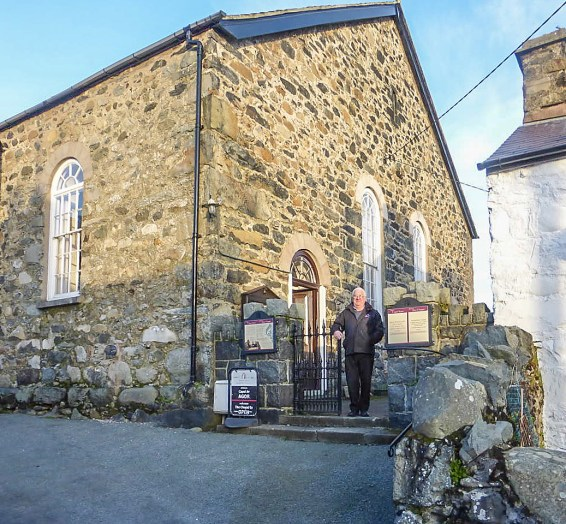 Seion Chapel with caretaker Ken Hughes