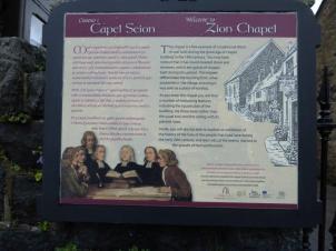 Seion Chapel info board