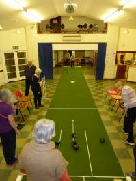 short mat bowling in action