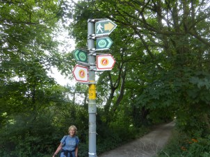 Follow the red and yellow sign onto Conwy Mountain