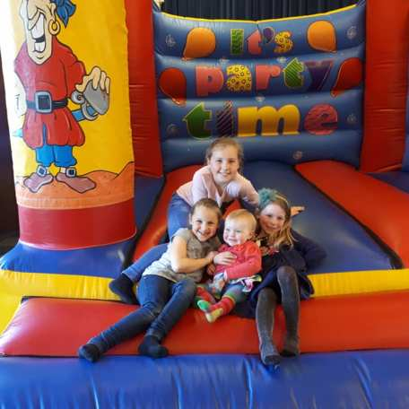 Bouncy castle in the Memorial Hall. Picture used with permission.