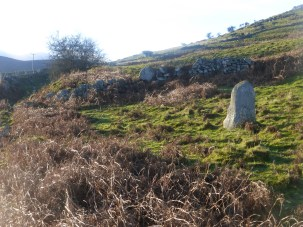 A standing stone near the Roman Road