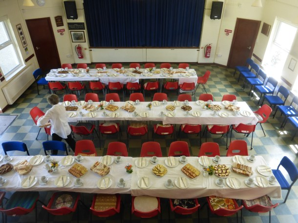 Funeral tea for 60 persons