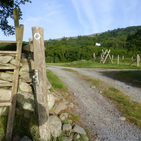 Turn right at the second stile.