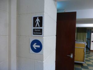 Defined route to toilets