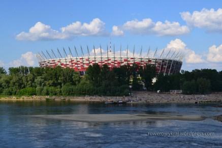 Stadion Narodowy. Widok z mostu Poniatowskiego
