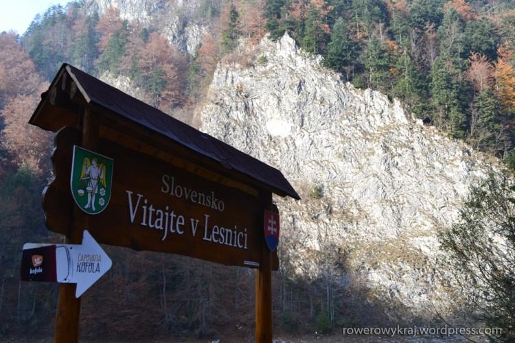 Przełom Dunajca po słowacku i cyklocesta przez Lesnické sedlo