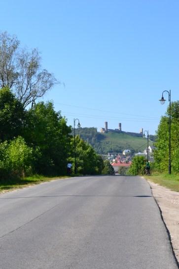 Widok Zamek od strony Kielc