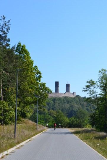 Widok na Zamek od strony Centrum Geologiczngo