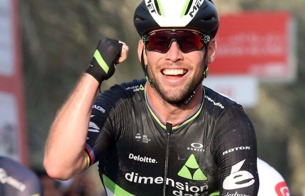 Mark Cavendish świętuje na mecie Abu Dhabi Tour