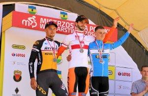 Piotr Brożyna na podium mistrzostw Polski