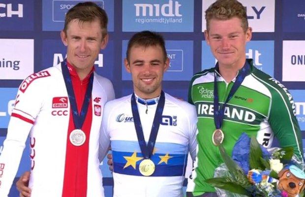 Campenaerts i Bodnar na podium