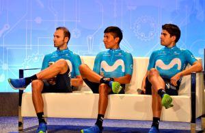 na kanapie od lewej: Valverde, Quintana, Landa