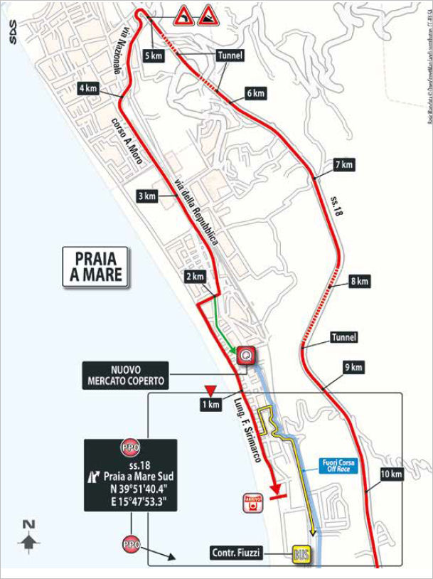trasa końcówki 7. etapu Giro d'Italia 2018