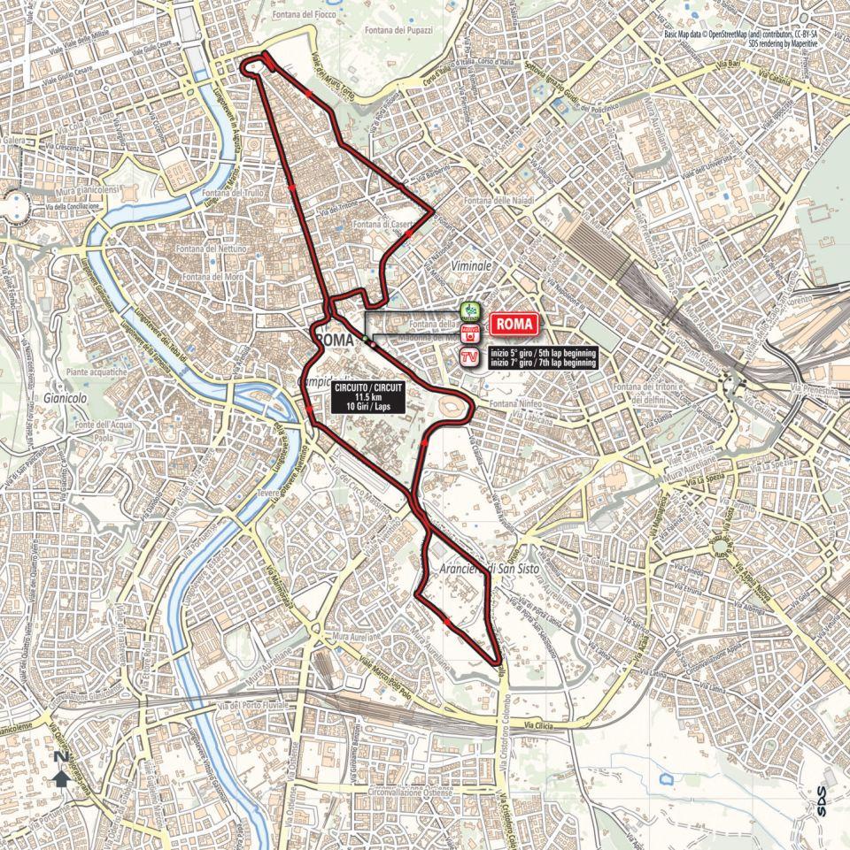 mapka 21. etapu Giro d'Italia 2018