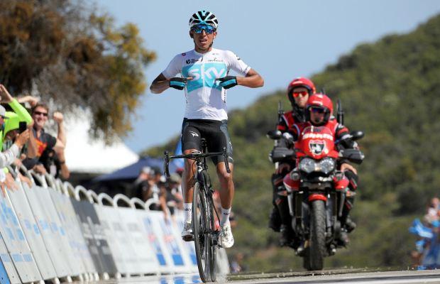 Egan Bernal na mecie 2. etapu Tour of California