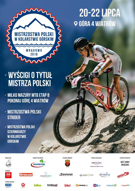 plakat mistrzostw Polski w kolarstwie górskim