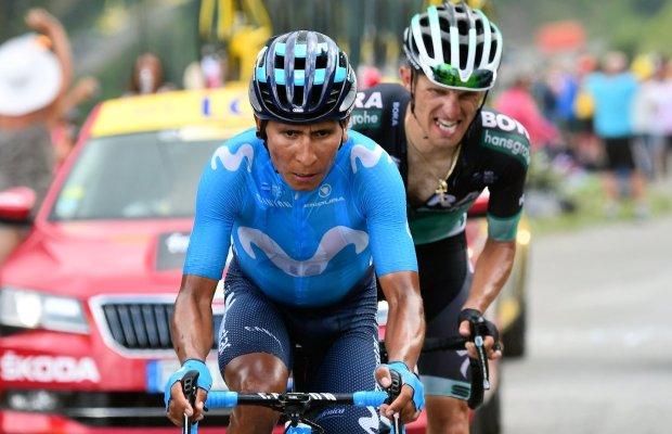 Nairo Quintana i Rafał Majka na Col du Portet