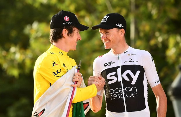Geraint Thomas i Chris Froome