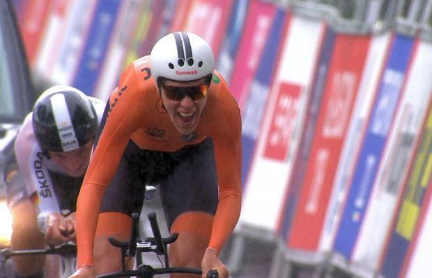 Ellen van Dijk finiszuje po tytuł mistrzyni Europy w jeździe na czas