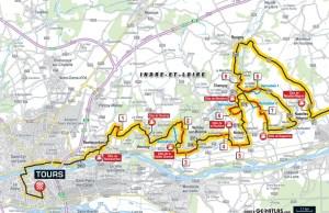 Przebieg ostatnich 50 km Paryż-Tours 2018