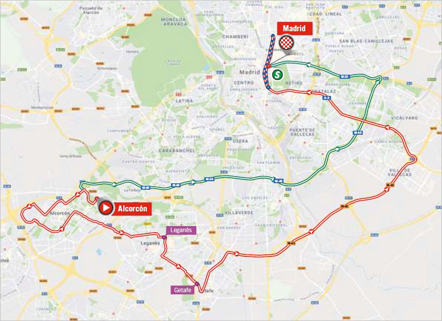 mapka 21. etapu Vuelta a Espana 2018