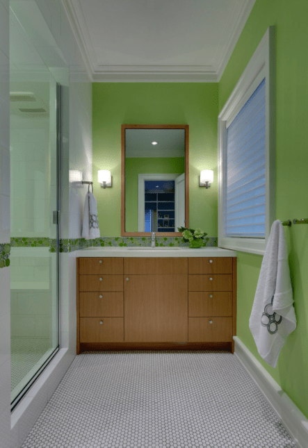Bright Lime Green Bathroom Walls