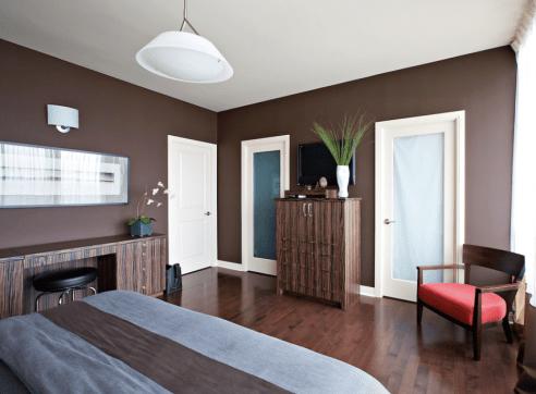 Sleek Contemporary Brown Bedroom